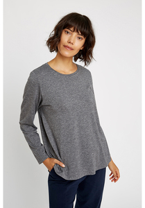 Langarmshirt Wolle/Tencel - Amara Top - Grey - People Tree