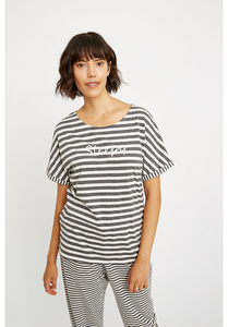T-Shirt - Sleepy Stripe Pyjama Top - People Tree