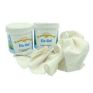 Eisgel 2er-Vorteilspack inkl. Baumwolltuch| 2x200 ml | vegan - 4betterdays