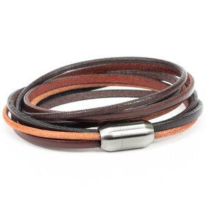 Simaru Echtleder- /Wickelarmband für Damen & Herren mit Magnetverschluss - Simaru