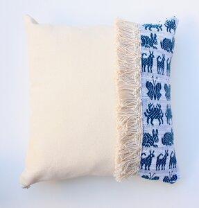 """Terremotas Collection"" handgewebte Kissenbezug mit blaue Tiermotive - LaMalve"