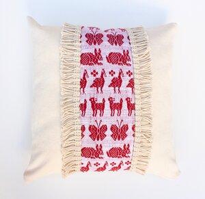 """Terremotas Collection"" Handgewebte rote Kissenbezug - LaMalve"