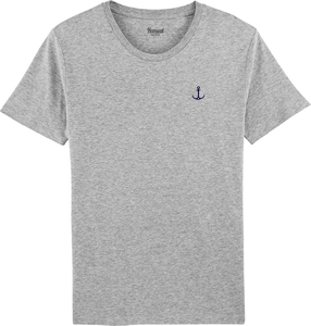 Herren T-Shirt Regular Fit mit Anker Bruststick Bio & Fair - Hanseat