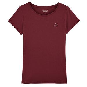 Damen T-Shirt Regular Fit mit Anker Bruststick weiß Bio & Fair - Hanseat