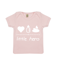 "little hero – Baby Shirt ""powder pink""  - DENK.MAL Clothing"
