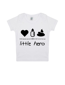 "little hero – Baby Shirt ""white""  - DENK.MAL Clothing"