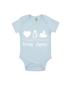 "little hero – Body ""soft blue""  - DENK.MAL Clothing"