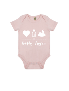 "little hero – Body ""powder pink""  - DENK.MAL Clothing"