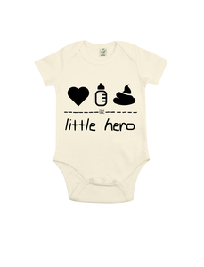 "little hero – Body ""natur""  - DENK.MAL Clothing"
