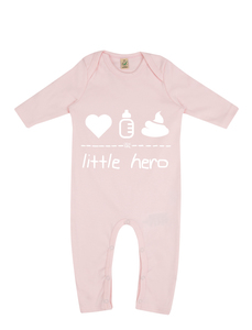 "little hero – Strampler ""powder pink""  - DENK.MAL Clothing"