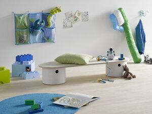 RONNI Kinderbank mit Stauraum - rund:Stil