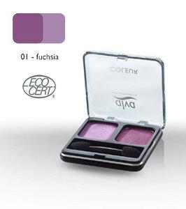 Lidschatten-Duo 1 - fuchsia - alva naturkosmetik