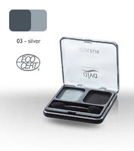 Lidschatten-Duo 3 - silver - alva naturkosmetik