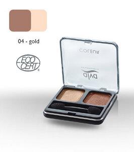 Lidschatten-Duo 4 - gold - alva naturkosmetik