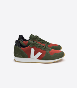 HOLIDAY B-MESH ROUILLE OLIVE WHITE - Veja