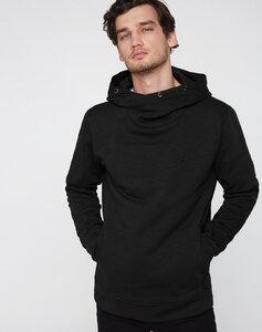 Schalkragen Hoodie schwarz - recolution