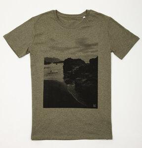Bio Faires Herren T-Shirt 'Black Beach' _khaki  - ilovemixtapes