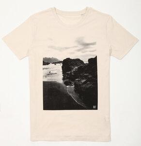 Black Beach Organic / Fair Men Shirt _ vintage white - ilovemixtapes