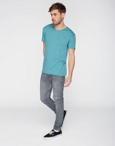 T-Shirt runder V-Neck blau - recolution