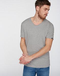 T-Shirt runder V-Neck grau - recolution