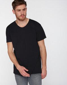 T-Shirt runder V-Neck schwarz - recolution
