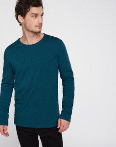 Longsleeve Basic blaugrün - recolution