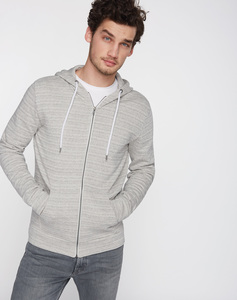 Sweatjacke Basic grau - recolution