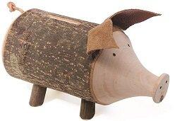 Sparschwein aus Holz  - Dolfi
