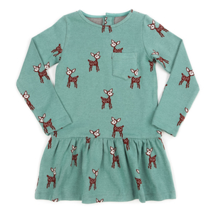 Lily Balou Jaquard Mädchenkleid Fiona deer - Lily Balou