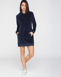 Hoodiekleid #NICKI dunkelblau - recolution