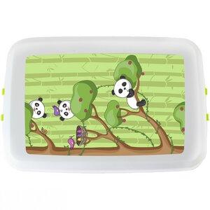 Vegane Brotbox mit Panda Deckel ohne schädliche Weichmacher - Biodora
