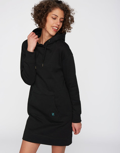 Hoodiekleid #CROWN schwarz - recolution