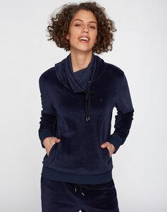 Sweatshirt mit Röhrenkragen #NICKI dunkelblau - recolution