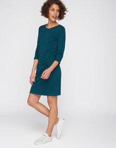 Kleid mit 3/4 Ärmeln blaugrün - recolution