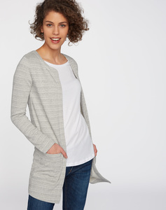 Sweat Cardigan grau - recolution