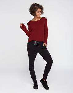 Strick Pullover #RIB burgundy rot - recolution