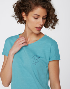 T-Shirt #FOX aqua blau - recolution