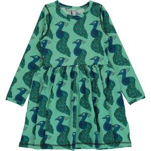 Langarm Tanzkleid Peacock GOTS - maxomorra