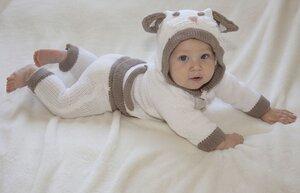 Strickset 'Kätzchen' aus weicher Biobaumwolle in niedlicher Erinnerungsbox - Baby Paul's
