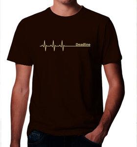 Deadline T-Shirt in Braun & Beige - Picopoc
