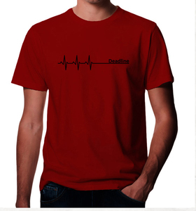 Deadline ;)  T-Shirt in rot - Picopoc