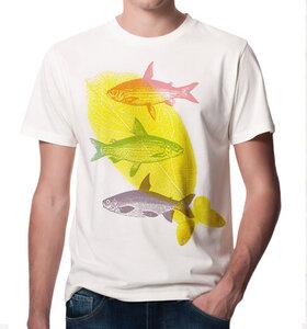 Fliegende Fische T-Shirt für Männer in Weiß - Picopoc
