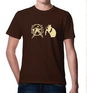 T-Shirt Hamster und der Hamsterrad :)  Braun - Picopoc