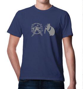 Hamster & Hamsterrad  T-Shirt in blau - Picopoc