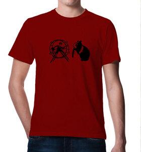 T-Shirt Hamster & der Hamsterrad in rot - Picopoc