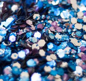 Tiefsee Mix - Biologisch abbaubarer Glitzer - Glitterkram