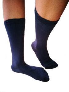 3 Paar Socken 98% Bio-Baumwolle Freizeitsocken Dunkelblau - Albero