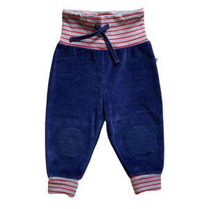 Baby Kinder Nickyhose 2 Farben Bio-Baumwolle Hose dunkelblau-blau - Leela Cotton