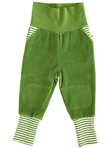 Baby Kinder Nickyhose 5 Farben Bio-Baumwolle Hose rot-grün-blau-grau - Leela Cotton