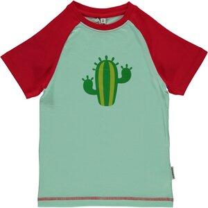Kurzarmshirt Kaktus GOTS - maxomorra